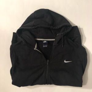 Nike Mens Black Hooded Zip Up Sweatshirt Size XL